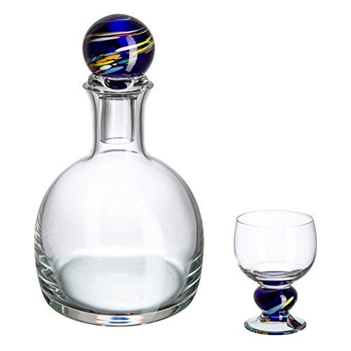 Glazen Bohemia Luis Set gedistilleerde dranken, kristalglas, 24,5 x 11,5 x 24 cm, 7 stuks