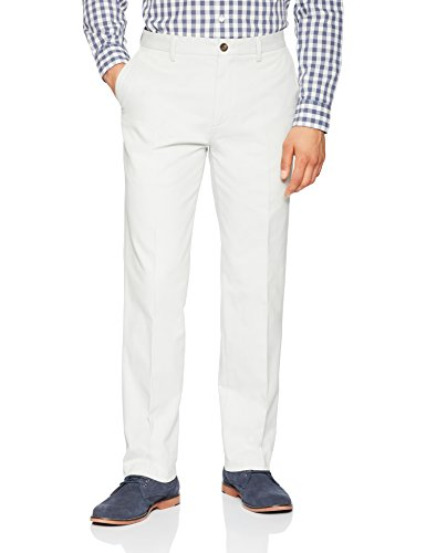 Amazon Essentials Men's Classic-Fit Wrinkle-Resistant Flat-Front Chino Pant, Silver, 38W x 34L
