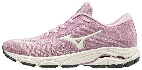 Mizuno Women's Wave Inspire 16 WAVEKNIT Running Shoe Road, Ballerina-Snow White, 7.5 B
