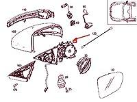 MB S W222 フロント 右 ドア ミラー フレーム LHD A2228106200 NEW GNUINE