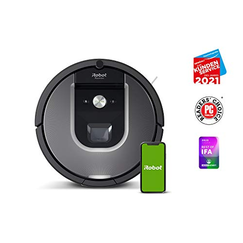 iRobot Roomba 960 der Volks-Saugroboter mit starker Saugkraft, 2 Multibodenbürsten, Navigation für mehrere Räume, lädt sich auf und setzt Reinigung fort, Ideal für Tierhaare, App-Steuerung,Dirt Detect - 3