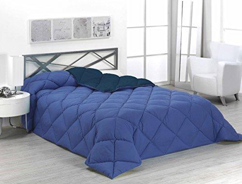 Sabanalia - Edredón nórdico de 400 g reversible (bicolor), para cama de 90/105 cm, color azul y marino