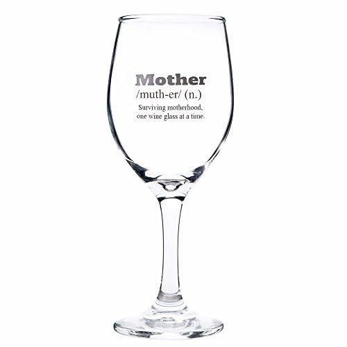 THE TWIDDLERS Regalo para mamá - Copa con Mensaje Grabado - Copa para Vino con diversión y oración de Amor - Accesorio para mamá Navidad