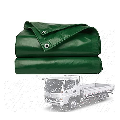 JIANFEI Lona Impermeable, 460 G / ㎡ Exterior Resistente Al Desgarro Lona Alquitranada por Camión Invernadero, A Prueba De Viento Impermeable Cubrir con Ojales Reforzados