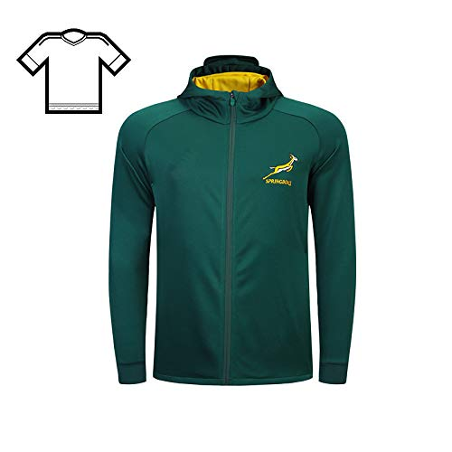 Rugby South Africa Jacket Rugby Rugby World Cup Team Home And Away Football Jerseysclothing Cup Fan Banner Gift T-shirt Sweat Absorbent Rugby Jersey Soccer Uniform,Green-S