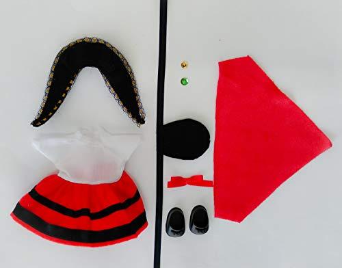 Folk Artesanía Vestido y complementos Regional típico Gallega muñeca Barriguitas de Famosa. Muñeca no incluida en el Lote.