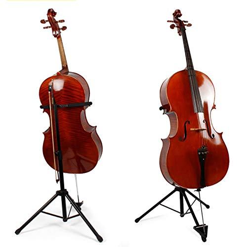Gitarrenständer Cellostativständer Höhenverstellbarer Notenständer Metall Akustikgitarrenständer Bassständer mit Rutschfestem Kissen Haltbare Stativständer Musikinstrumentenständer Bassgitarrenständer