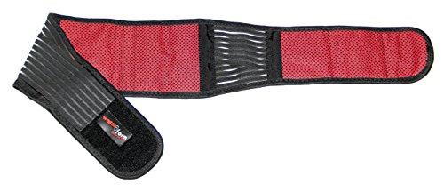 Wärme-Rückengurt Classic mit Turmalin und Magneten, Bandage, Tiefenwärme, selbstwärmend, waschbar, immer wieder verwendbar, Infrarot, Hilfe bei Rückenschmerzen, Rückenbandage, Rückenwärmer (105 cm)