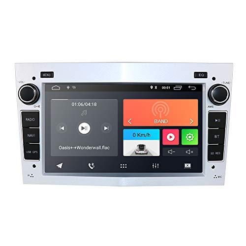 Radio para Coche Android 10 con Bluetooth, navegación GPS, Pantalla táctil de 7 Pulgadas para Opel Antara Vectra Crosa Vivaro Zafira Meriva Compatible con Control en el Volante, WiFi 4G Dab