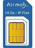 AIRMOB Carte SIM prépayée 1 Mois pour IoT. 10Go IP publique Fixe. Couverture France métropolitaine. Idéal domotique, alarmes,...