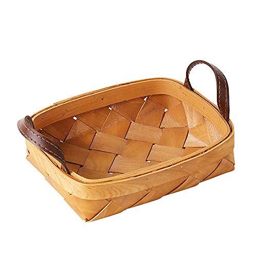 Kesper 17904 Cesta para el pan de mimbre con forro de tela color beige 27//30 x 13 cm