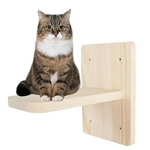 Scaletta per gatti Mensola per Gatti a Parete, Gatti Parete Arrampicata, Supporto da parete per animali domestici Gatti in Legno massello e mobili da Gioco, 1 Scalini per gatti