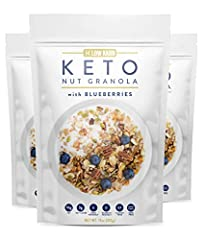 DELICIOUS HEALTHY BREAKFAST : Keto Friendly Low Carb Food - only 3g Net Carbs EASY TO MAKE : Recommend to eat Cold or Hot with Almond milk or Heavy Cream for perfect low carb cereal keto food or Enjoy as a Keto Snack right out of the bag ENJOY AS YOU...
