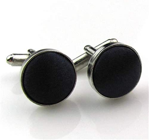 SuoSuo LZWJD Mens Cuff Links Fashion Men's Shirt Cufflinks for Mens Brand Cuff Buttons 24 Colors Cuff Links (Color : Black)