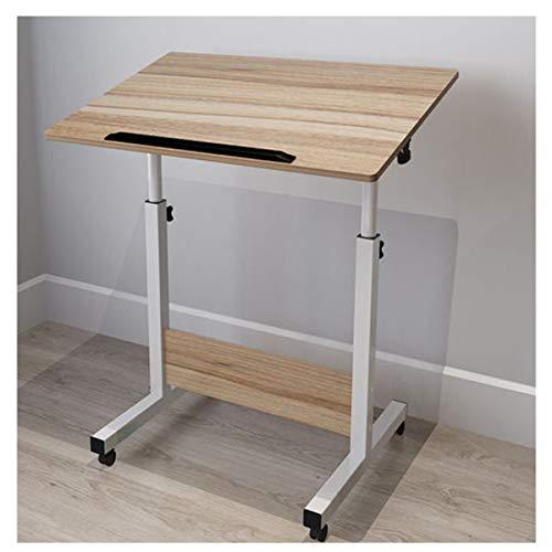 WERTYG Mesita de noche plegable para escritorio, escritorio, escritorio, escritorio, escritorio, mesa plegable para el hogar, sala de estar, oficina (color: roble antiguo, tamaño: 60 x 40 cm)