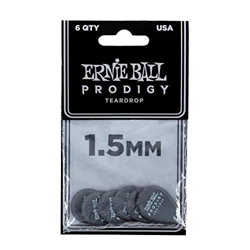 Ernie Ball 1.5mm Black Teardrop Prodigy Guitar Picks (P09330)