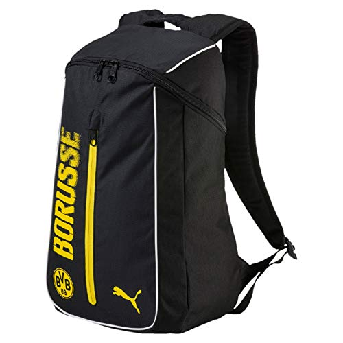 PUMA BVB Fanwear Backpack Rucksack, Cyber Yellow Black, 50 x 35 x 2.5 cm