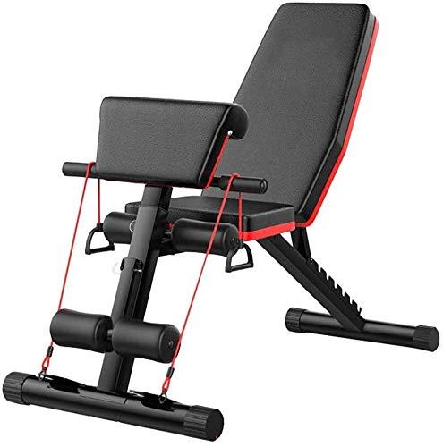Suge Sit-Ups Fitnessapparaten, halterbank, workout Bench, verstelbaar, multifunctionele buikspieren, fitnessstoel, vogel bank, rugleuning, 7-voudig verstelbare klap