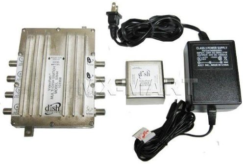 Dish Network Legacy VideoPathSW44 Multi-Dish Switch with Power Inserter