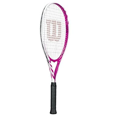 Wilson Triumph Strung Adult Recreational Tennis Racket (Hot Pink, 4 1/8)