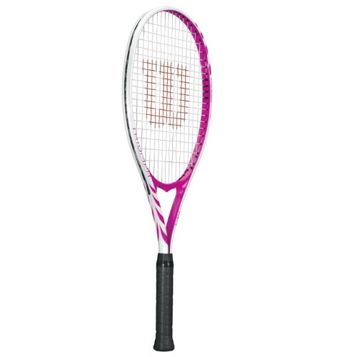 Wilson Triumph Strung Adult Recreational Tennis Racket (Hot Pink, 4 1/4)
