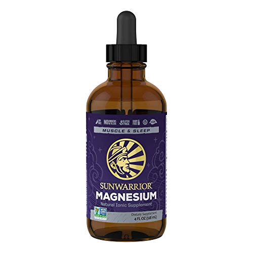 Sunwarrior Magnesium Natural Ionic Liquid Supplement Drink Additive Features Trace Minerals to Support Brain, Heart & Muscle (4 FL Oz)