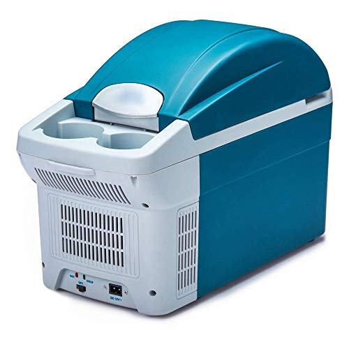 GHJA Enfriador y Calentador eléctrico para Oficina, Dormitorio Universitario, Dormitorio y apartamento, frigorífico de compresor pequeño, frigorífico de Coche de 8,5 l, frigorífico de Hielo portá