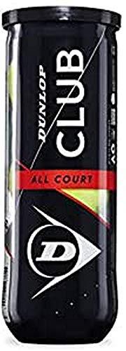 Dunlop Sport Tennisball Club All Court - 3 Ball pet, 601334, gelb, einheitsgröße