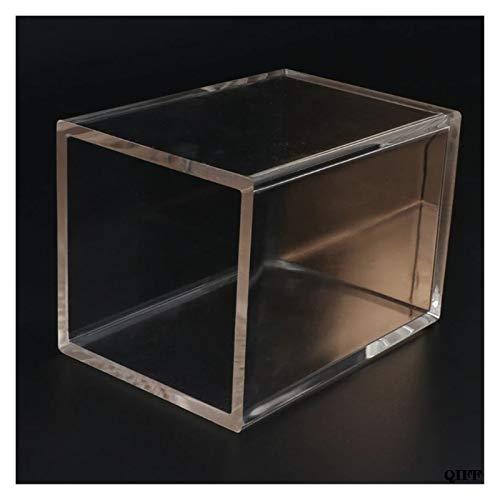 Organizador de escritorio de papelería, transparente, contenedor de bolígrafos, dispensador de papelería de oro rosa (color: como se describe)