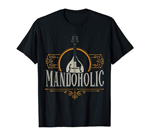Mandolin Player & Bluegrass Music Gifts, Mandolin Instrument T-Shirt