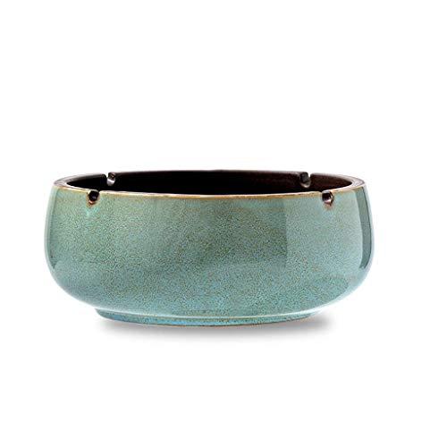 Cenicero retro Cenicero de cerámica Cenicero de la sala de estar Oficina a prueba de viento Ashtray S16.5x16.5x6.8 / l20.5x20.5x8.2cm Cenicero (Color: 5, Tamaño: s) WANGHN ( Color : 3 , Size : Large )