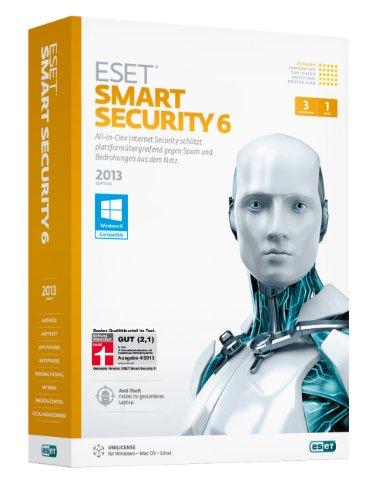 ESET Smart Security 6 - 1 Jahr 3PCs (Minibox)