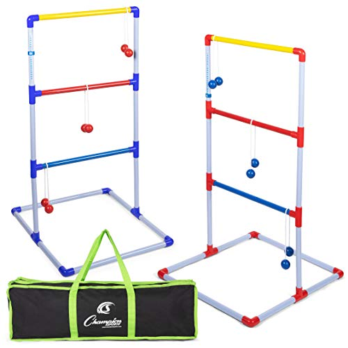 Champion Sports Deluxe Outdoor Ladder Ball Game: Backyard Party, Camping & Beach Games Ladder Golf...