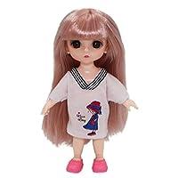17cmBjd人形可動ジョイントドレスアップブラインドボックスランダムに2枚のカジュアル服服アクセサリー装飾かわいいプリンセスヌードガールファッションギフトDiyおもちゃ