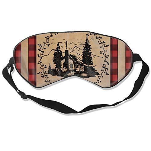 Buffalo Check Rustic Cabin Custom 100% Silk Sleep Eye Mask Personalized Night Sleep Mask Meditation with Adjustable Straps Blocks Light Suitable for Sleeping Travel Work Naps