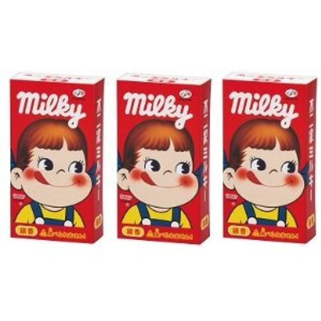フルート競争力のある一般不二家 ミルキーの香りのミニ寸線香 3箱セット