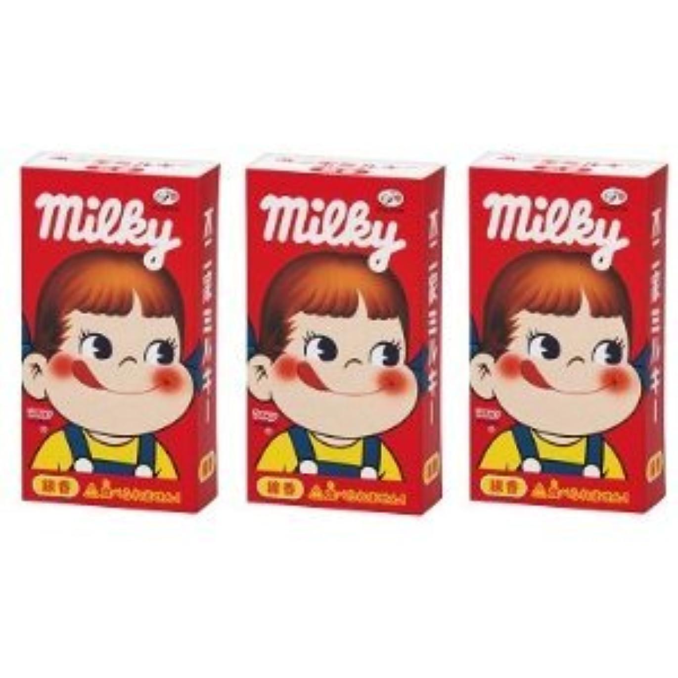 誘発する自発的シュリンク不二家 ミルキーの香りのミニ寸線香 3箱セット