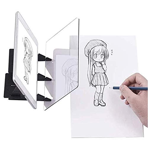 Optical Tracing Board DIY Drawing Tracing Tablet Zero-Based Drawing Mould Painting Reflection Tracer Sketch Wizard Image Reflection Projector Painting Board for Kids Adults Artists Beginners