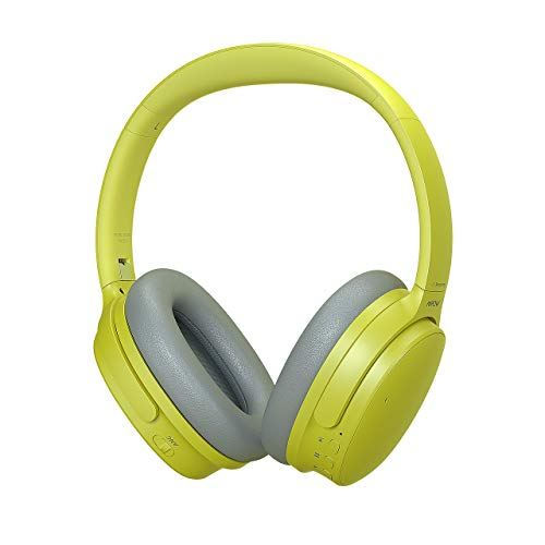 Mpow H10 Dual-Mic Noise Cancelling Bluetooth Headphones, [2020 Upgraded] ANC Over-Ear Wireless Headphones with CVC 6.0 Microphone, Hi-Fi Deep Bass, 30Hrs Playtime, Yellow