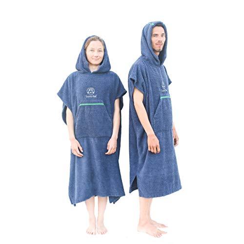 Suntribe Extra Kuscheliger Sport & Surfponcho - 420mg/cm2 Extra Dicke Baumwolle - Mobile Umkleide - Warme & Kalte Temperaturen - Schwedisches Design - 100% Baumwolle (Unisex)