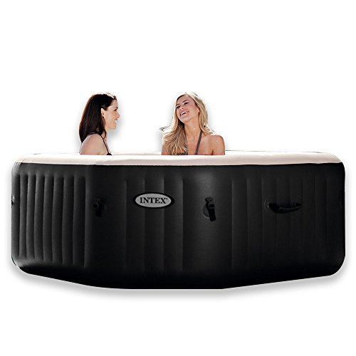 Intex PureSpa Jet & Bubble Deluxe Portable Hot Tub, Octagon, 79' X 79' X 28', Onyx Black