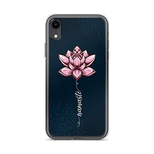 Compatible for iPhone XR Case Namaste Pink Lotus Flower Chakras Yoga Mandala Positive Anti-Scratch Covers