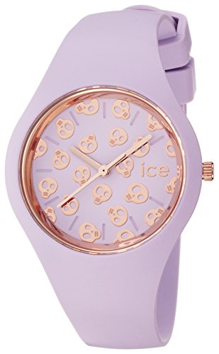 Ice-Watch Damen - Armbanduhr Ice Skull Analog Quarz Silikon ICE.SK.LIL.S.S.15