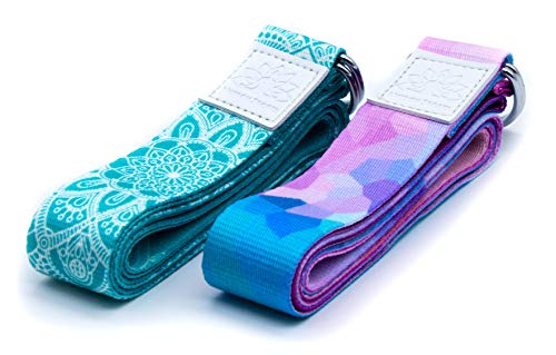 Netrox Yoga Gurt Gürtel Fitness Yogagurt Yogagürtel Strap Band Bio Hilfe Hilfsmittel Bänder Strech Gürtel Pilates Gymnastik Belt Lotuscrafts Home Workout Dehnen Belt