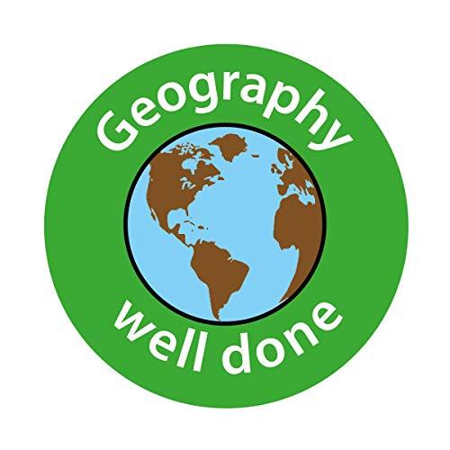 Geografie - goed gedaan. Set van 140 24mm curriculum stickers.