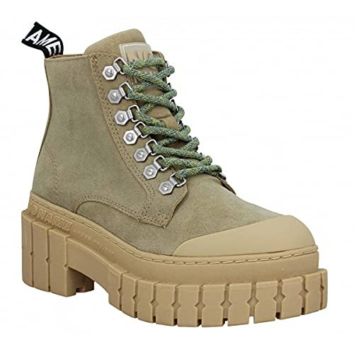 No Name Kross Low Boots Suede Femme Taupe