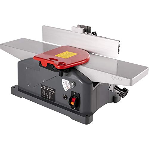 VEVOR Jointers Woodworking 6 Inch Benchtop Jointer 9000 RPM/min Jointer Planer Heavy Duty 1280W Benchtop Planer 156mm Maximum Planing Width Wood Jointer Benchtop For Wood Cutting Thickness Planer