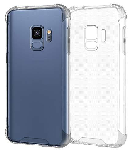 MyGadget Custodia Protettiva in TPU per Samsung Galaxy S9 - Bumper Case Angoli Rinforzati Resistente - Cover Silicone Antiurto - Trasparente