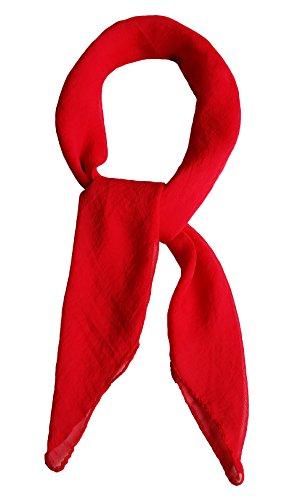 Topmode Foulard carré 70cm couleur unie Femmes/Enfants (Rouge)