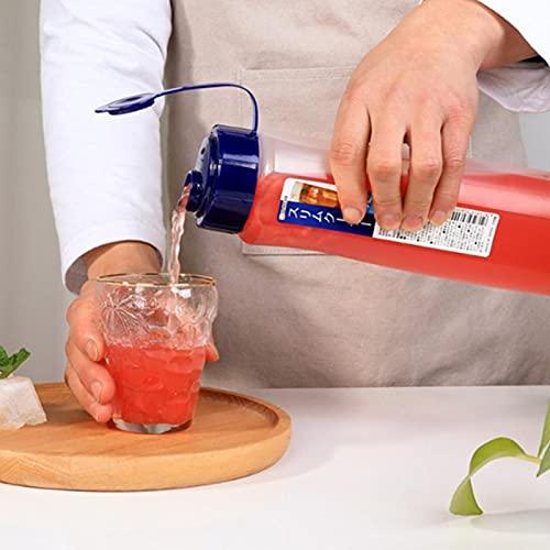Jarra de agua de plástico para nevera con tapa, cubo fresco de verano de 1L/2.1ll, botella de agua simple de gran capacidad resistente al calor